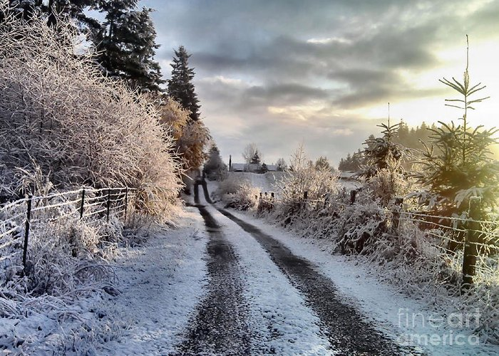 Landscape Greeting Card featuring the photograph The Way Home by Rory Sagner