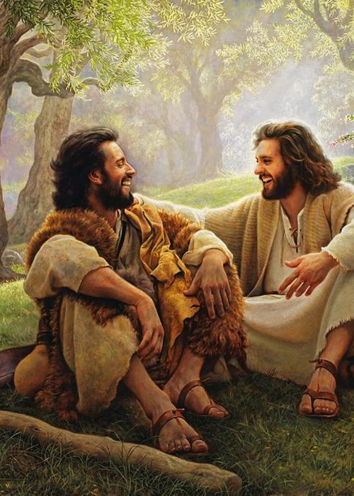 Jesus Greeting Card featuring the painting The Way Of Joy by Greg Olsen