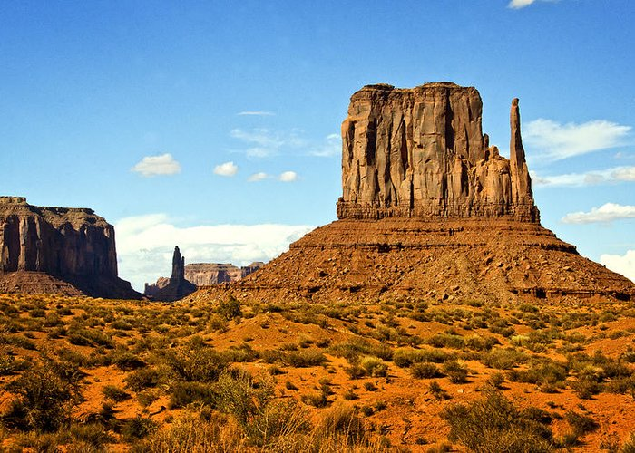 Monument Valley Greeting Card featuring the photograph The West Mitten by Saija Lehtonen