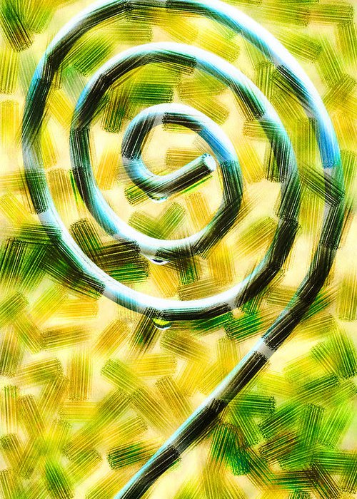 Metal Greeting Card featuring the digital art The Wet Whirl by Steve Taylor