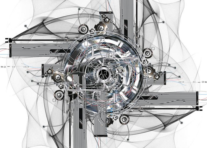 Wheel Greeting Card featuring the digital art The Wheel Of Time Turns by Diuno Ashlee