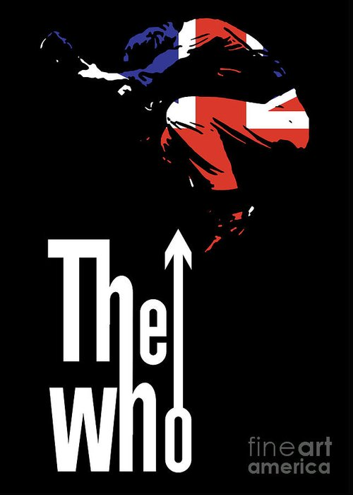 The Who Greeting Card featuring the digital art The Who No.01 by Geek N Rock