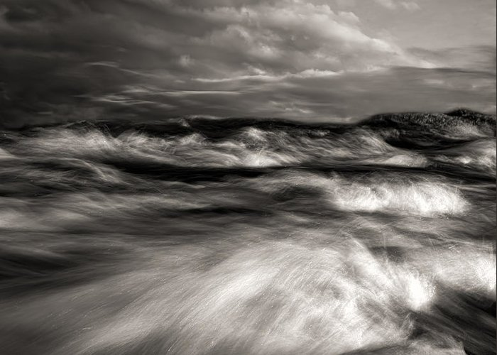 Nature Greeting Card featuring the photograph The Wind And The Sea by Bob Orsillo