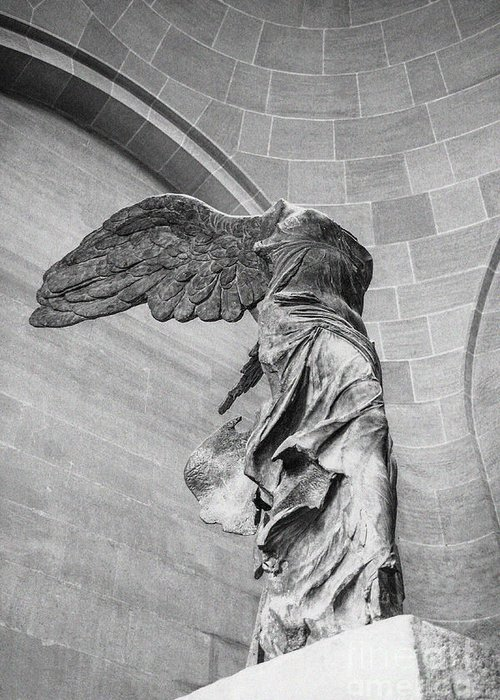 Acropolis Greeting Card featuring the photograph The Winged Victory by Patricia Hofmeester