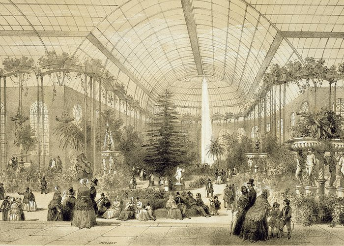 Jardin D'hiver Greeting Card featuring the painting The Winter Garden by A Provost