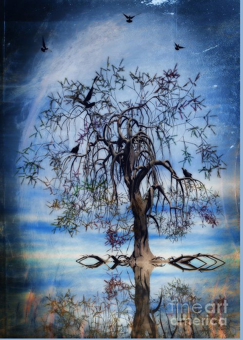 Wishing Tree Greeting Card featuring the painting The Wishing Tree by John Edwards