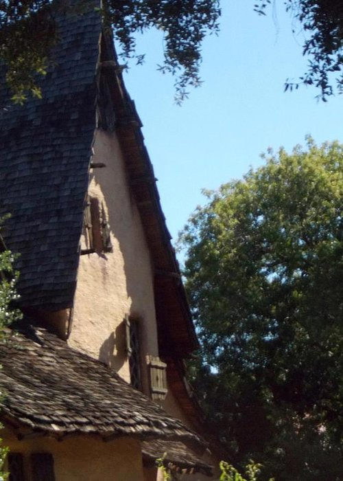 The Witch House Greeting Card featuring the photograph The Witch House Roof by Dawn Wirth