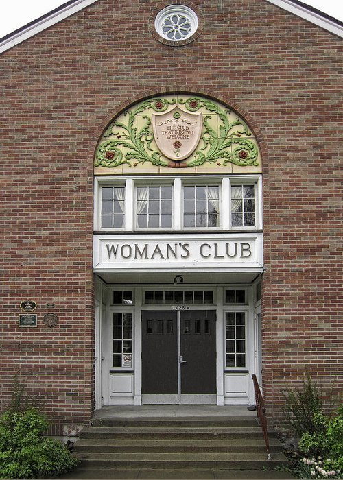 Women Greeting Card featuring the photograph The Womans Club Bids You Welcome by Daniel Hagerman