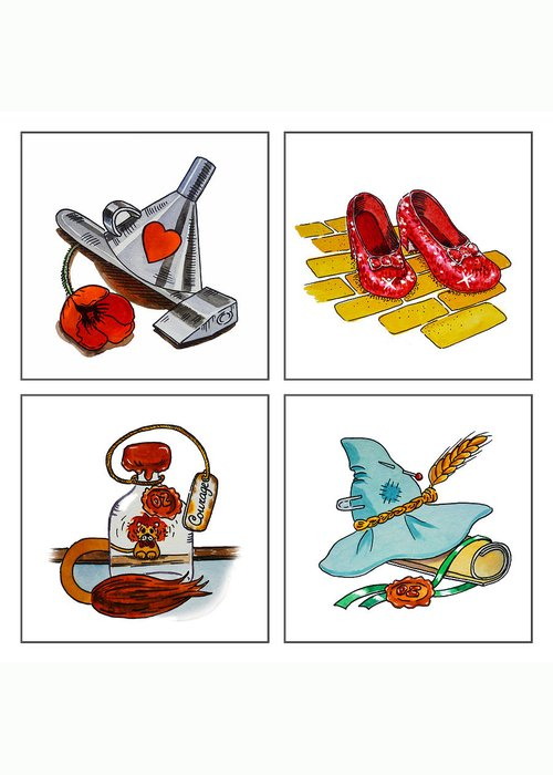 Yellow Brick Road Greeting Cards