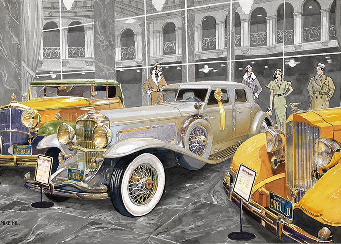 Car Collector Greeting Cards