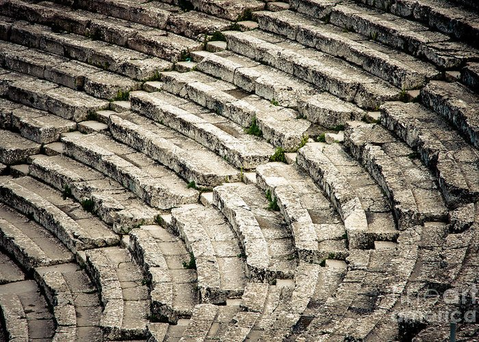 Ancient Greeting Card featuring the photograph Theatre At Epidaurus by Gabriela Insuratelu