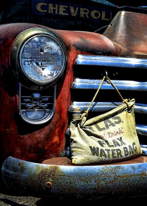 Old Chevy Truck Greeting Card featuring the photograph This Ol' Chevy by Kristie Bonnewell