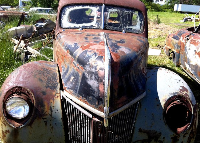 Arkansas Greeting Card featuring the mixed media This Old Truck by Gary Perron