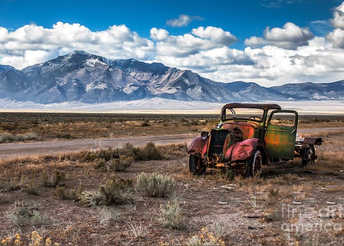 Transportation Greeting Card featuring the photograph This Old Truck by Robert Bales