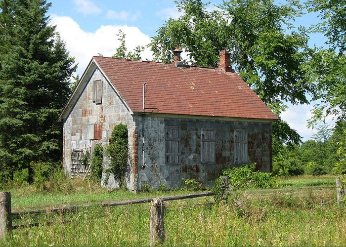Abandoned Farmhouses Greeting Card featuring the photograph This Will Be Our Last Lesson Today by Richard Stanford