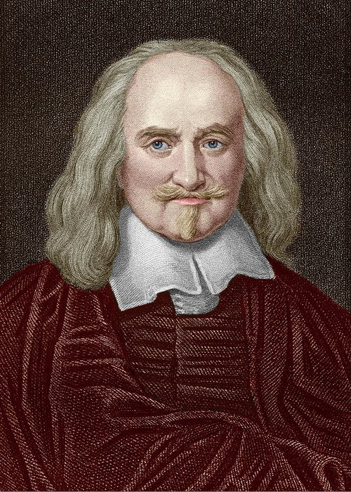 Hobbes Greeting Card featuring the photograph Thomas Hobbes by Sheila Terry/science Photo Library