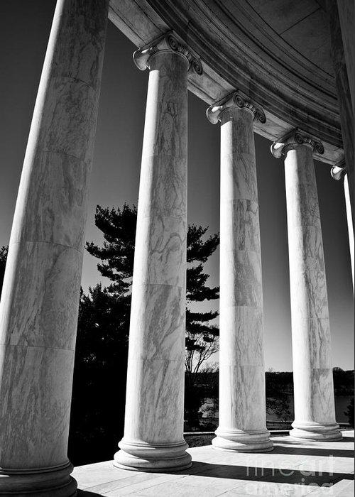 Ken Greeting Card featuring the photograph Thomas Jefferson Memorial by Ken Johnson