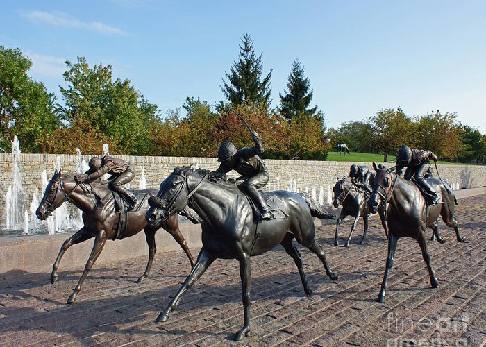 Kentucky Greeting Card featuring the photograph Thoroughbred Park by Roger Potts