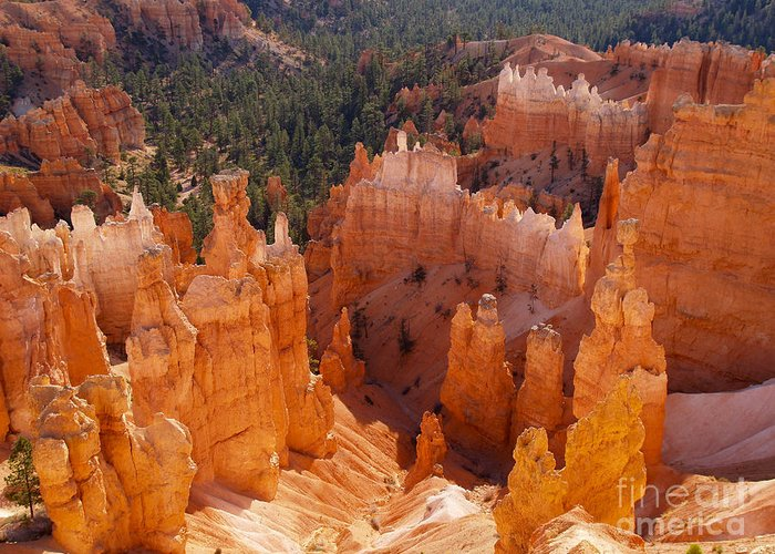 Landscape Greeting Card featuring the photograph Thor's Hammer At Bryce Canyon In Utah by Alex Cassels