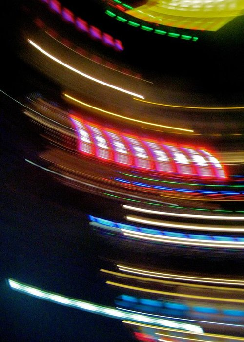 Abstract Greeting Card featuring the photograph Threads Of Light IIi by Michele Stoehr