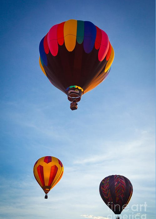 America Greeting Card featuring the photograph Three Balloons by Inge Johnsson