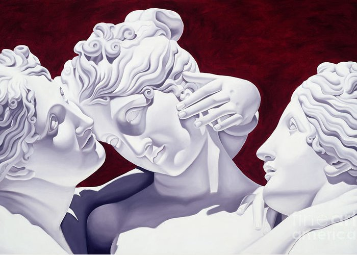 Three Greeting Card featuring the sculpture Three Graces by Catherine Abel