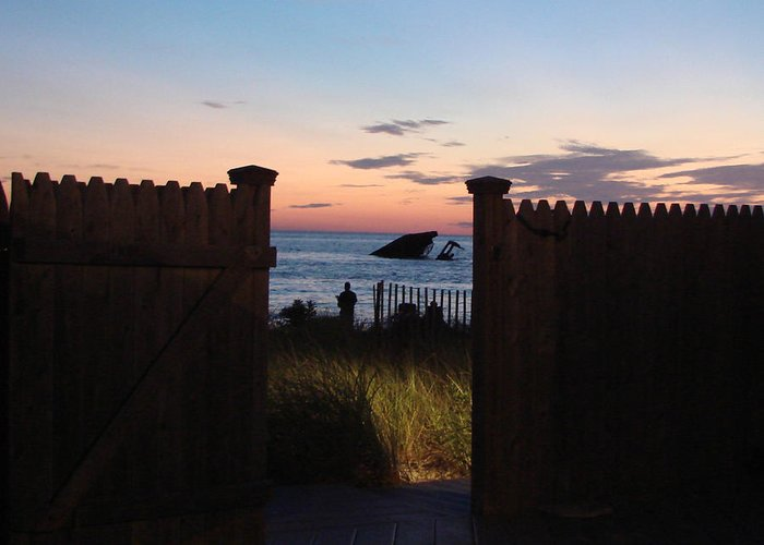 View Greeting Card featuring the photograph Through The Gate by Brenda Conrad