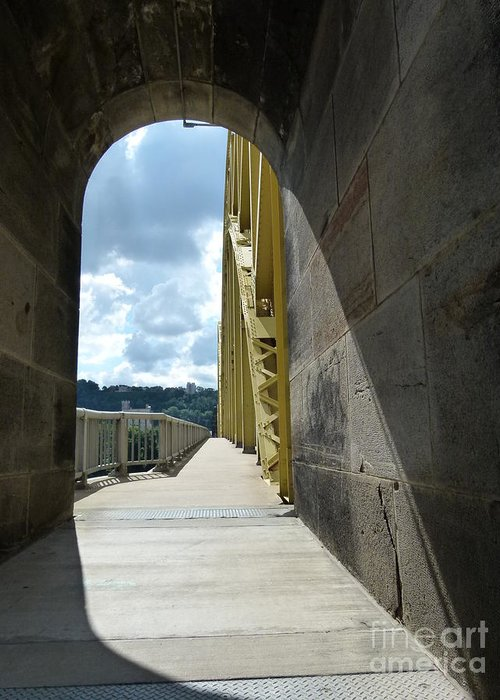 Pittsburgh Bridges Greeting Card featuring the photograph Through The Portal by Jane Ford