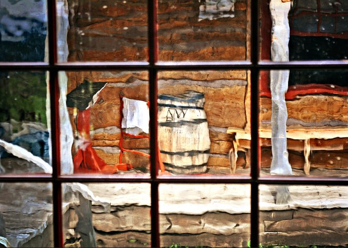 Still Life Greeting Card featuring the photograph Through The Window by Marty Koch
