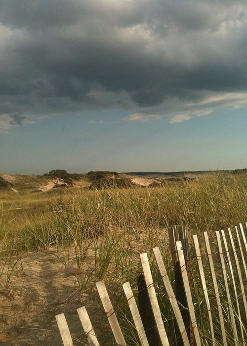 Storm Clouds Greeting Card featuring the photograph Thunder Dunes by Tricia Nilsson