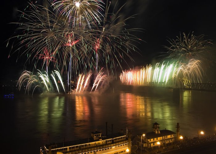 Thunder Greeting Card featuring the photograph Thunder Over Louisville - D008432 by Daniel Dempster