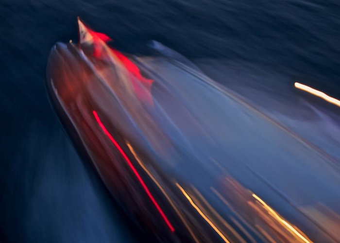 Port Greeting Card featuring the photograph Thunderbird At Night by Steven Lapkin