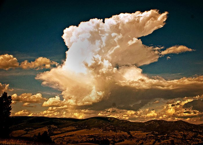 Clouds Greeting Card featuring the photograph Thunderhead Over The Blacktail Plateau by Marty Koch