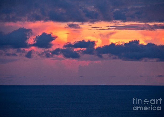 Sunset Greeting Card featuring the photograph Thundering Sunset by Bob Hislop