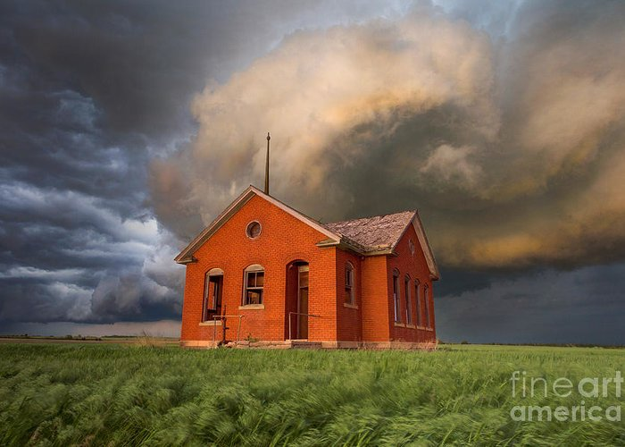 Thunderstorm Greeting Card featuring the photograph Thunderous Plains by Jill Van Doren Rolo