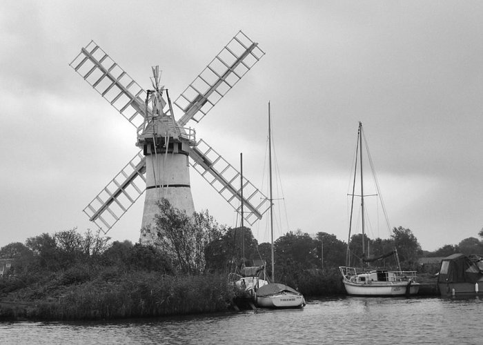 Thurne Windpump Ii Greeting Card featuring the photograph Thurne Windmill II by Phyllis Taylor