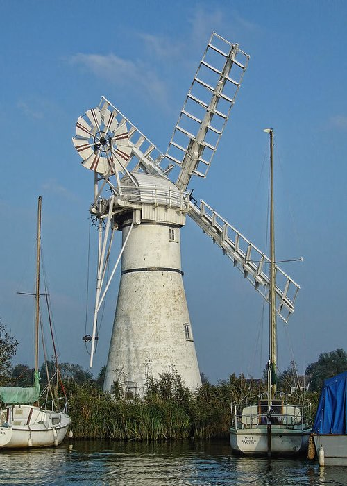 Thurne Windpump Greeting Card featuring the photograph Thurne Windpump by Phyllis Taylor