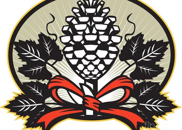 Grapevine Leaf Digital Art Greeting Cards