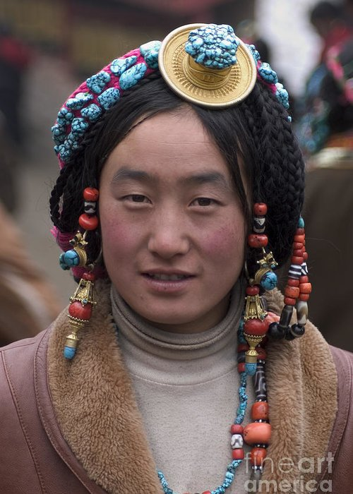 To Travel Greeting Card featuring the photograph Tibetan Beauty - Kham by Craig Lovell