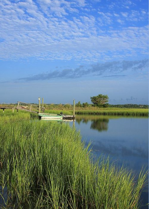 Wrightsville Beach Greeting Card featuring the photograph Tidal Marsh Wrightsville Beach by Mountains to the Sea Photo