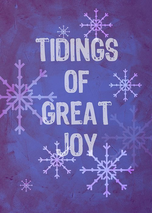 Christmas Art Greeting Card featuring the painting Tidings Of Great Joy by Jocelyn Friis