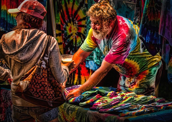 Tie Dye Greeting Card featuring the photograph Tie Dye Guy by Bob Orsillo