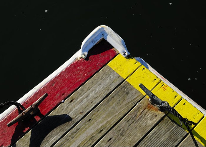 Dock Greeting Card featuring the photograph Tied-up by Luke Moore