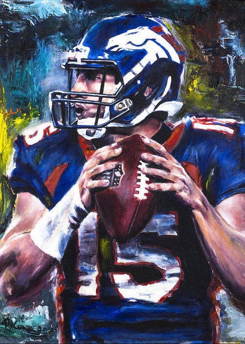 Tebow Paintings Greeting Cards