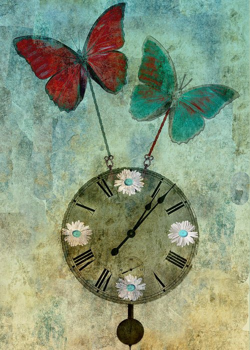 digital Art Canvas Prints Greeting Card featuring the photograph Time Flies by Aimelle
