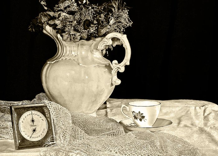 Time Greeting Card featuring the photograph Time For Tea by Camille Lopez