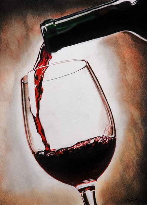 Cabernet Sauvignon Drawings Greeting Cards