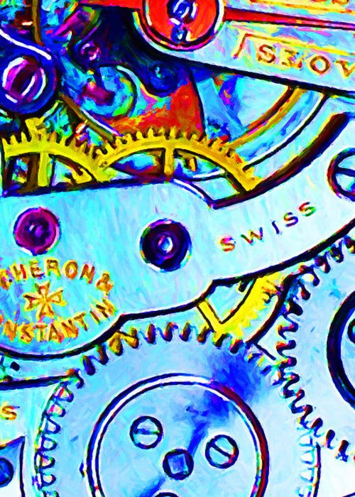 Steampunk Greeting Card featuring the photograph Time In Abstract 20130605 Long by Wingsdomain Art and Photography