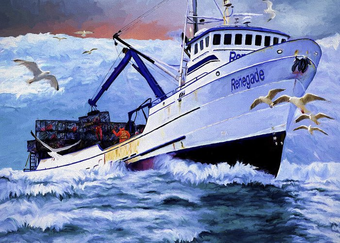 Harbor Paintings Greeting Cards