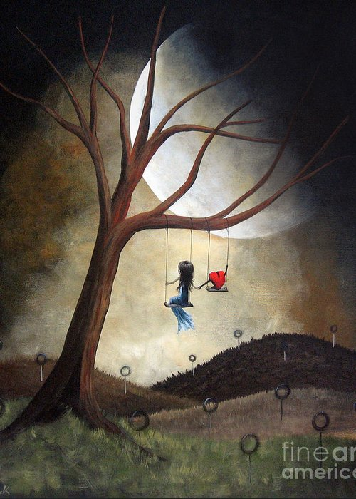 Surreal Greeting Card featuring the painting Time Together By Shawna Erback by Shawna Erback